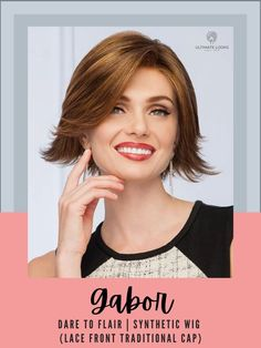 Style towards the face or dare to flair! #hairstyles #hairdo#hairoftheday #styleinspo #styles #styleoftheday #stylegram Gabor Wigs, Synthetic Lace Wigs, How To Lighten Hair, Hairline, Natural Looks, Lace Front Wigs, Hair Lengths, Hairstyles, Face