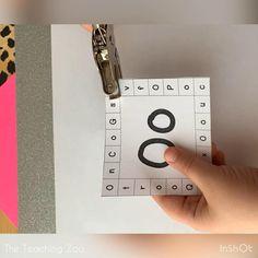 Letter Activities, Literacy Activities, Autism Classroom, Classroom Ideas, Kindergarten Literacy, Preschool, Hole Puncher, Alphabet Games, Common Core Reading