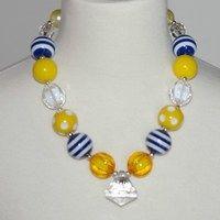 Nautical Yellow Chuncky Necklace w/Diamond Shape Pendant only $6.99 https://www.facebook.com/gabskiaccessories www.gabskia,com