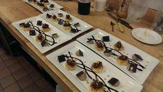 Almond Cake, Tainori Creameux, and Espresso Cream
