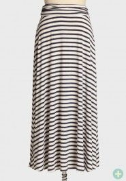 love love this skirt! It looks so lightweight and comfortable an can be worn on a day that you dont feel like dressing up too much. I would pair with a cute white tank, silver sandas, and silver accessories. afternoon stroll curvy plus maxi skirt Rouche.com