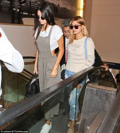 Kendall Jenner goes make-up free to jet to Mexico with Hailey Baldwin #dailymail
