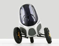 Electropositive Leaning Three Wheeled Electric Vehicle by Ionut Predescu 03 Electric Tricycle, Electric Scooter, Electric Cars, Electric Vehicle, Electric Motor, Three Wheel Bicycle, E Biker, Reverse Trike, Concept Motorcycles