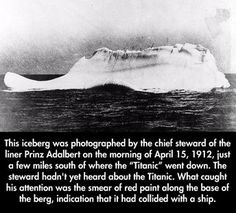 Amazing Facts that you probably didn't know.--12 Pics---Ths iceberg that sunk…