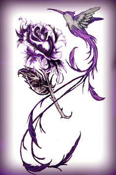 I also like this one, but not as dark. I like the idea of having a rose as the flower though! <3
