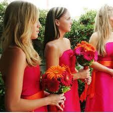 Image result for pink and orange dress