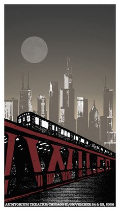 Wilco concert poster featuring Chicago. One of my favorites!