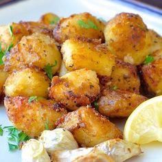 Lemon Herb Geroosterde Aardappelen - Rock Recepten - Rock Recepten