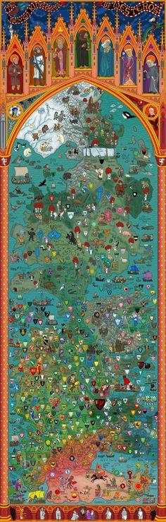 El Mapa de Poniente como no lo habías visto nunca - Los Siete Reinos