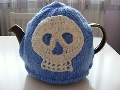 Skull Teacosy #skull #knitted #knitting #craft