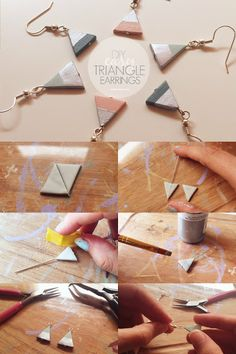 ISOSCELLA | DIY Easy Clay Triangle Earrings