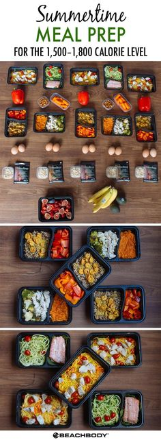 This summer meal prep menu highlights delicious late season produce. Based on the Portion Fix nutrition guide, the containers make healthy eating easy.