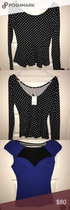 edf312027d0d76 3 brand new tops NWT. KardashianOff The ShoulderPolka ...