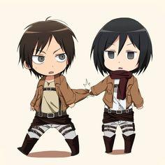 Eren and Mikasa.