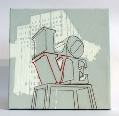 """Kim Malm's acrylic & embroidery """"Love Statue in Philly"""" Love Statue, Brotherly Love, Malm, Best Gifts, Arts And Crafts, Vibrant, Ink, Stars, Philadelphia"""