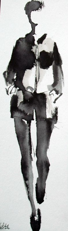 BLACK OUTFITS  (10X29,7CM)  Black Ink