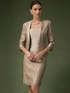 knee length mother of the bride dress with jacket
