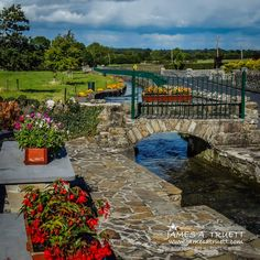 Roadside Park along County Galway's Abbey River