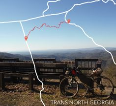 The Trans North Georgia (TNGA) is a 350 mile mountain bike route that winds through the mountains of Northern Georgia. The route takes on some of the most challenging forest