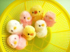 Kawaii Plush Doll Mini Pom-Pom Craft Stuff Chick Pink White Cute Mascot Craft Project Japan by Kawaii Japan, via Flickr   ♥