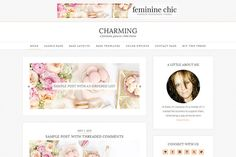 Charming | Genesis Child Theme by Feminine Chic on Creative Market