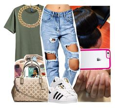 """blase - Ty dolla $ign"" by lowkeytayy ❤ liked on Polyvore featuring beauty, Luvvitt, Michael Kors, Boohoo and adidas"