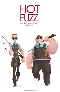 Hot Fuzz fan art by deviantart user Docilus