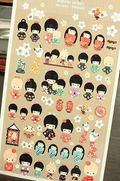 Japanese Paper Decor Sticker Set