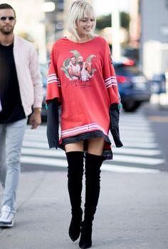 Camisetas e tricôs viram vestido graças a tendência GG