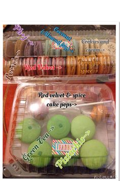 Mix flavored macarons that was ordered.