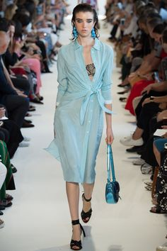 Gingham shirt dress - Altuzarra Spring 2017 Ready-to-Wear Fashion Show