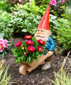 Rien Poortvliet® Garden Gnome with Wheelbarrow