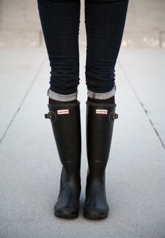 purchased a pair of #hunter #boots today in honor of small business saturday! adding to the collection...