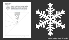 Paper snowflake templates to download, print, and cut. These are beautiful! There is even a blank one so you can design your own.