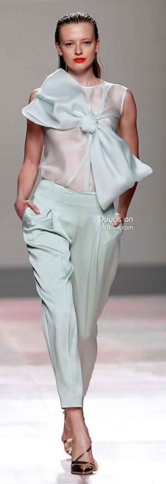 Duyos Spring 2014 #MBFW #Madrid -- Go here for your Dream Wedding Dress and Fashion Gown! https://www.etsy.com/shop/Whitesrose?ref=si_shop