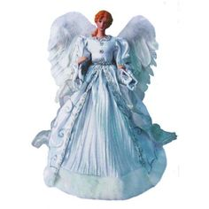 Silver Angel Tree Topper | Angel's Attic Designs Angel Christmas Tree Toppers