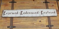 """FOLLOW ME ON INSTAGRAM @tinsheepshop. Rescued Redeemed Restored Wood Sign, 22"""" Wooden Sign, Christian Sign, Farmhouse Style, Rustic Distressed Sign,Shabby Chic Sign,Inspirational by TinSheepShop on Etsy"""
