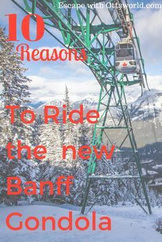 Embrace Winter from Above in Banff If you don't ski, it doesn't mean you are doomed to visit the Canadian Rockies only from ground level. via @Ottsworld