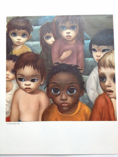 Children Margaret Keane Big Eye Girl Lithograph by BellaMercato