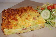 A savoury zucchini slice.