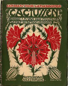 cover design Einband Entwurf: Jo Daemen 1891-1944 J.M. van den Houten - Cactussen 1ste dr.1929.