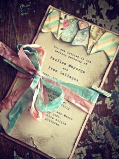 Wedding Invitation Boho Chic Bunting Tea Party. $8.50, via Etsy.