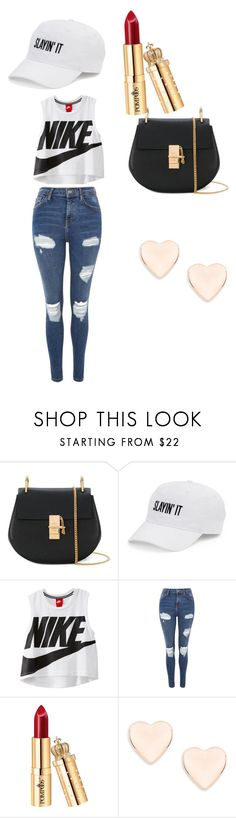 """""""Plain and simple"""" by arianamclay ❤ liked on Polyvore featuring Chloé, SO, NIKE, Topshop and Ted Baker"""