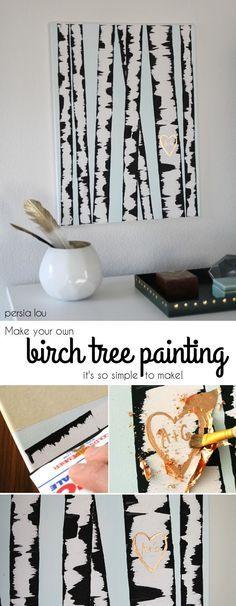 Birch tree painting!