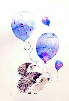 ♡☆ Lovely Hedgehog Art ☆♡