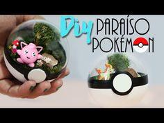 DIY: Terrário de Pokébola! Paraíso Pokémon! ♥