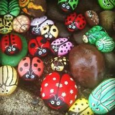 Painted Rocks For The Garden - Bing Images