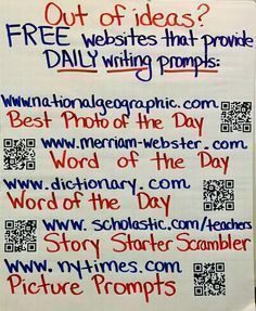 Write On, Fourth Grade! Free websites that provide daily writing prompts Writing Strategies, Writing Lessons, Teaching Writing, Writing Activities, Writing Skills, Math Lessons, Writing Ideas, Writing Process, Teaching Themes