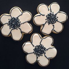 abstract poppies cookies