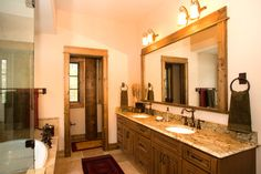 Mountain House - rustic - bathroom - other metro - by Sage Kitchens